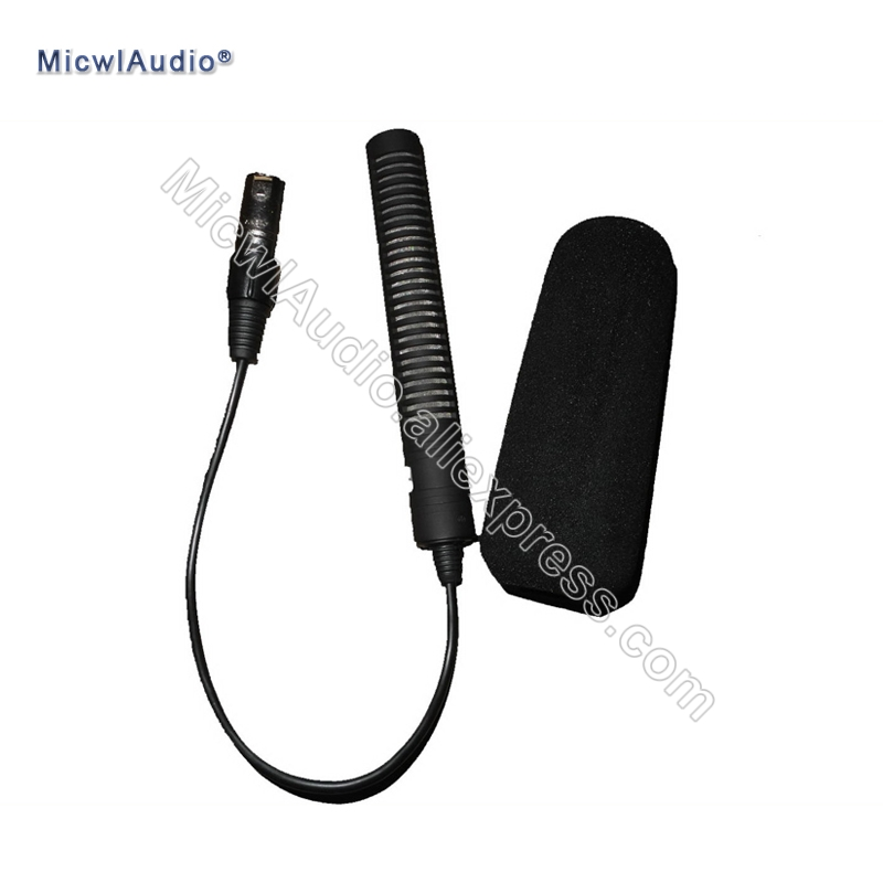 XLR 3Pin Male Interview Digital Recorder , Mixing console , Camera etc. Microphone Shotgun Mic for ZOOM H4N