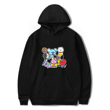Kpop Bangtan boys BT21 Hoodie Sweatshirt Women Men Long Sleeve Print BT21 Q Version TATA C