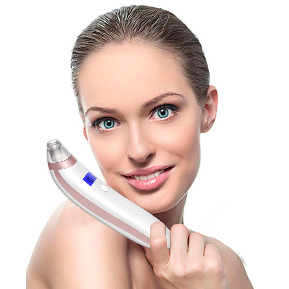 Blackhead Remover, Breett Pore Cleanser Rechargeable Microcrystalline Comedo Remover Strong Suction Blackhead Extractor with Display Screen
