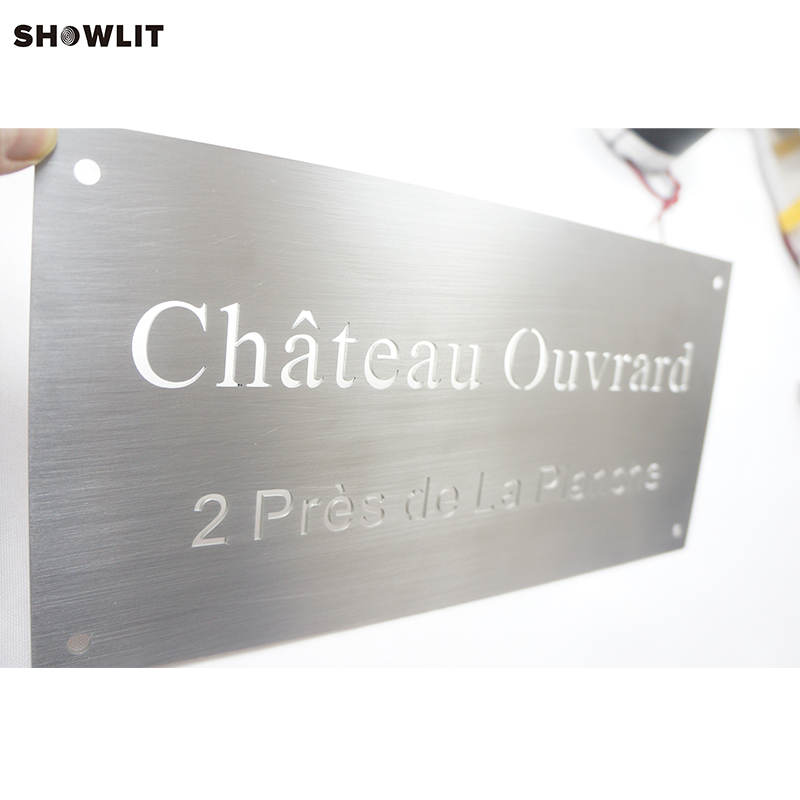 6inches Width Laser Cutting Out Custom Made Brushed Address Street Name Signs6inches Width Laser Cutting Out Custom Made Brushed Address Street Name Signs