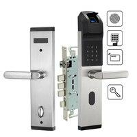 Пальцев замок электронные Keyless цифровой замок для безопасности дома Anti theft замок с паролем карты Mifare и ключи