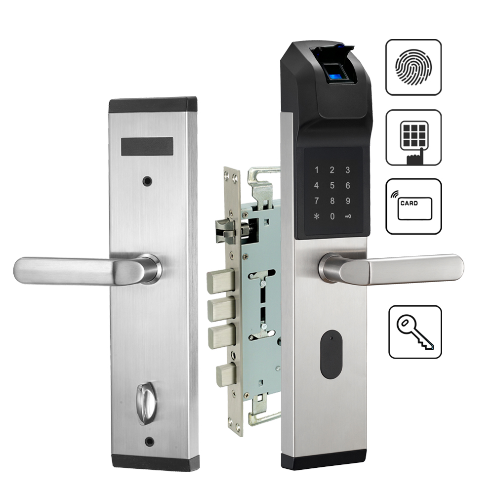 цена на Fingerprint Door Lock Electronic Keyless Digital Door Lock For Security Home Anti-theft Lock With Password Mifare Card and Keys