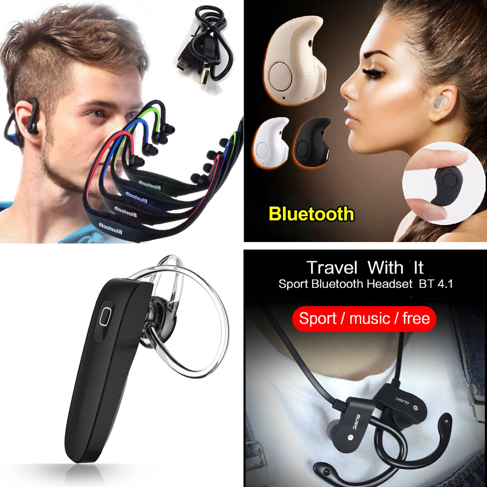 все цены на Bluetooth Earphone 4.0 Auriculares Wireless Headset Handfree Micro Earpiece for Xiaomi Redmi Note 4 4X fone de ouvido онлайн