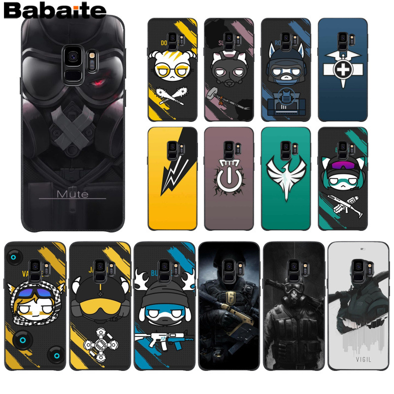 Pattern Akira Voltron Rainbow Six Siege Yugioh Phone Cover For Samsung Galaxy S9 Plus Case A3 A5 A6 S7 Edge S6 S8 Note 8 9 Soft Fitted Cases Cellphones & Telecommunications