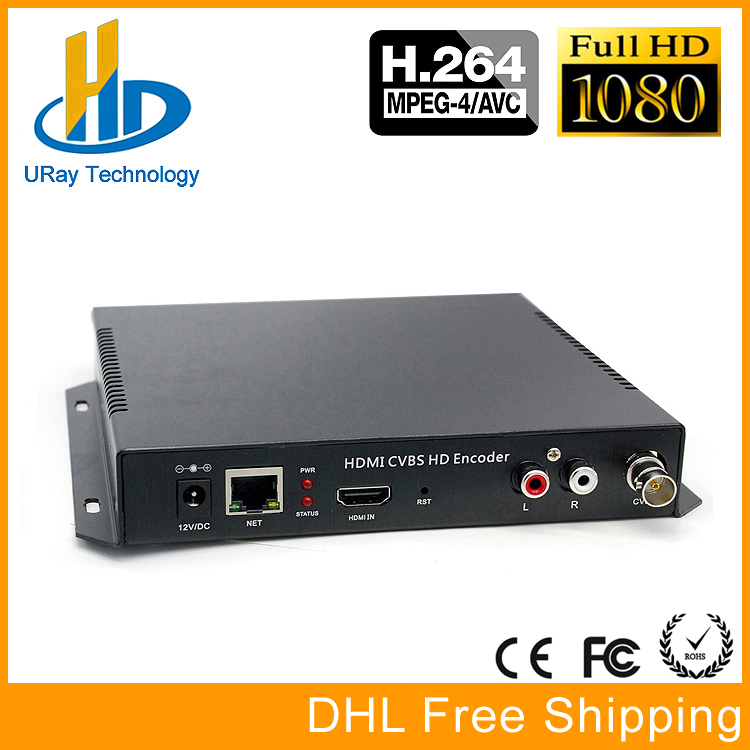 DHL Free Shipping MPEG4 HDMI + CVBS /Composite /BNC + R /L Audio Video Audio Encoder H.264 IPTV HD Live Streaming Encoder брюки funky staff брюки queen