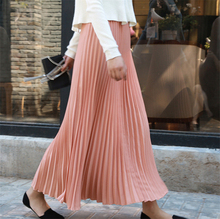 Colorfaith 2019 Women Casual Chiffon Maxi Skirt Spring Summer Pleated Multi Colors Fashion Flared High Waist Long Skirts SK8075