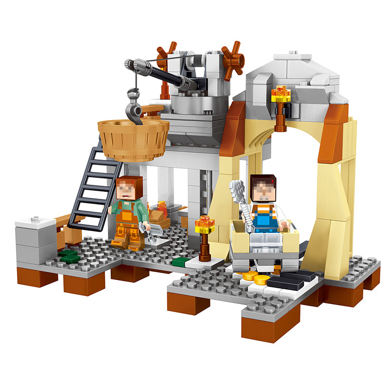 259pcs New My World Building Blocks Sets Mine And Workers Scene