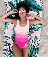 2017 Women Swimwear Push-up Paded One-Piece Suits Gradient Color Swimsuits Sexy Women Sexy Beachwear Beach Outwear