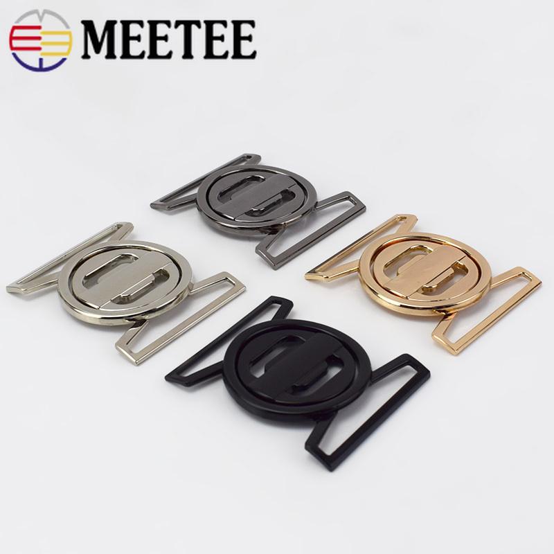 Good 50 Mm 1 Pair High Quality Metal Belt Buckle Round Fashion Combined Buckle For Down Jacket Diy Sewing Materials Supply Home & Garden Buckles & Hooks