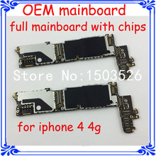 1pcs full function unlock motherboard OEM main board for iphone 4 4G 16G for apple original logic board system board with chips
