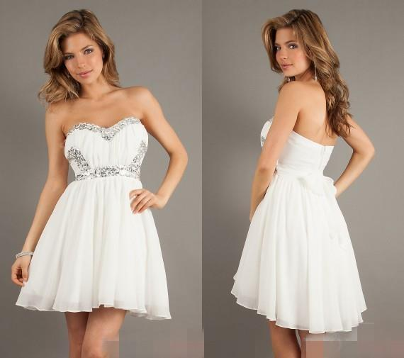 15c0009efd 2016 Hot Sale Elegant White Color Sexy Sweetheart Backless Semi Girls Homecoming  Dresses Formal Party Mini Gown Dress Gown