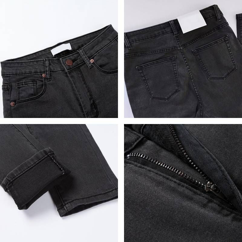 2019 Vintage Mom Fit High Waist Jeans Elastic Femme Women Washed Blue Denim Skinny Jeans Classic