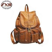 6989b1f64 عالية الجودة المرأة بو حقيبة جلدية خمر حقيبة الإناث قدرة كبيرة المباعة بني  كبير بنات مدرسة · 3 اللون