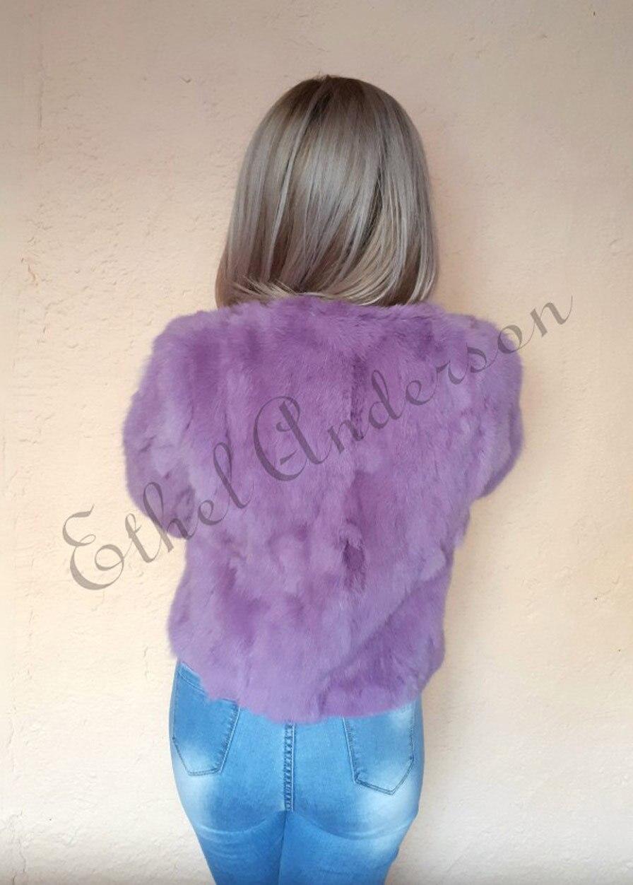 HTB1LIakrFmWBuNjSspdq6zugXXai ETHEL ANDERSON 100% Real Rabbit Fur Women's Real Rabbit Fur Coat/Jacket Outwear Beauty Purple Color XXXL Size Coat