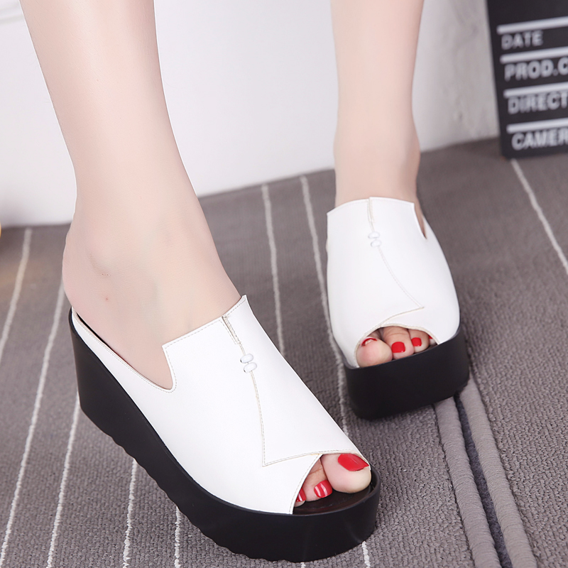 Hot 2017 fashion new shoes summer sandals women slippers Platform shoes wild high-heeled sandals Anti-skid women sandal shoes