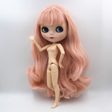 Blygirl,Blyth doll,Peach pink bangs, new doll, 19 joints, frosted shell, 1/6 doll, naked doll, can change body blygirl blyth doll black curly doll no 114bl58 joint body 19 joints white body