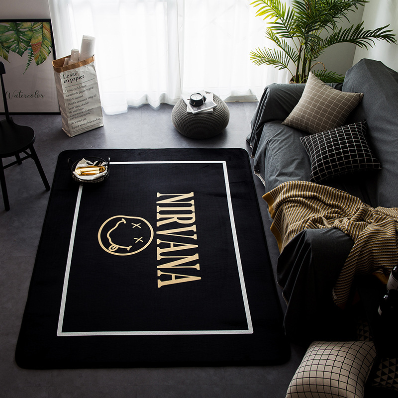 New Nordic Style Decor Flannel Velvet Deer Pattern Big Living Room Floor Kid Crawling Play Mats Rugs Table Are Rugs Carpets - 5