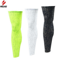 ARSUXEO Outdoor Sports Reflective Cycling Legwarmers Football Soccer Leggning Running Jogging Basketbgall Leg Warmers
