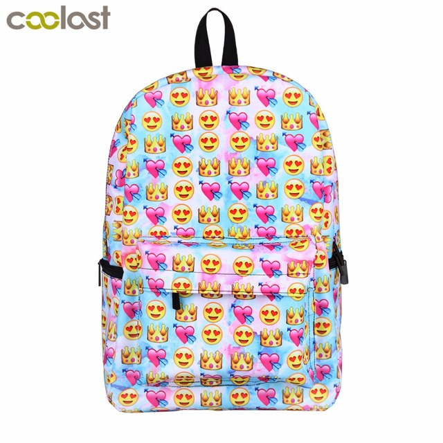 6302894e22 Funny Smile Face Print for teenage girls Backpack Unicorn school bag for  Girls Boys Shiba Inu