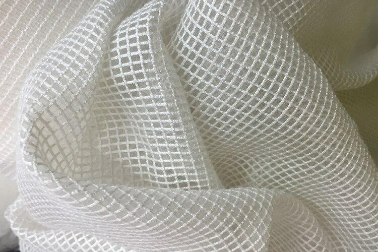 Fabric Leo&lin Lattice Organza Embroidery Linen Cloth Clothing Handmade Diy Peng Peng Skirt Dress Dress Fabric Wholesale Neither Too Hard Nor Too Soft Apparel Sewing & Fabric