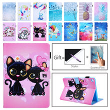 Case untuk Samsung Galaxy Tab A 2019 10.1 Inci T510 T515 SM-T510 T515 Cover Funda Tablet Fashion Dicat Unicorn Cat stand Shell(China)