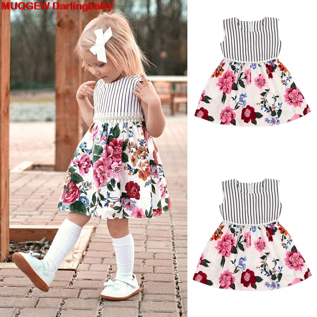 10b3d32176 Wholesale-Children-Clothing -Toddler-Kids-Baby-Girls-Sleeveless-Floral-Striped-Dress-Outfit-Clothes -Girls-Dress-Vestido.jpg_640x640.jpg
