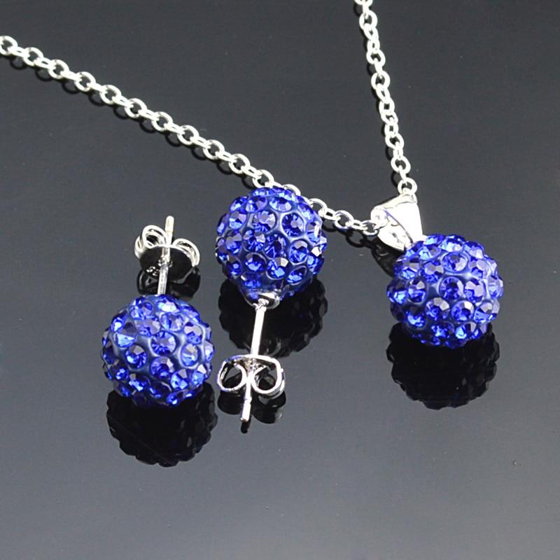 Sterling silver ball earrings set - sterling silver couple rings set