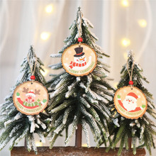 1pc 8CM Wood Slices Predrilled Round Log Discs DIY Party Christmas Hanging Decorations With Jute Twine