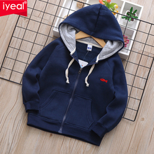 IYEAL 2020 Autumn Winter Kids Boys Outdoor Warm Jacket Fleece Coat Hooded Fashion Sport Windproof Jackets Outwear Kids Clothes