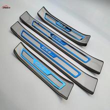 Car Styling For Mazda CX-5 2017 Accessories CX 5 CX5 Door Sill Trim Cover Scuff Plate Guard Protector Car Sticker Stickers 2019 стоимость