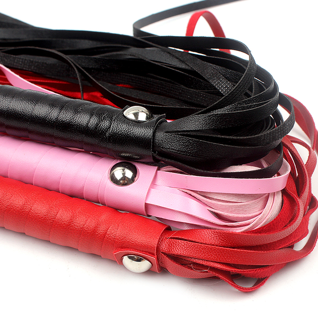 IKOKY Fetish Spanking Paddle Bondage Flogger Adult Games Flirt Sex Whip Sex Toys For Couples Sexy Knout PU Leather SM Products
