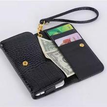 Для Apple iPhone Для iPad Huawei Xiaomi Аллигатор Кожа Карты слот Наручного ремня Бумажник Case Для Samsung Tab Откидной Крышкой мешок