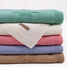 Stuff For Newborns Baby Blanket Knitted Acrylic Summer Infantil Wrap Swaddle Stroller Blanket Clothes Cobertor Monthly Kid Quilt