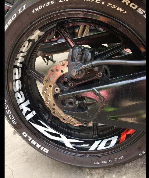 Kawasaki Motorcycle Wheel Sticker Decal Reflective Rim Bike Motorcycle Suitable,Motorcycle Rim Sticker