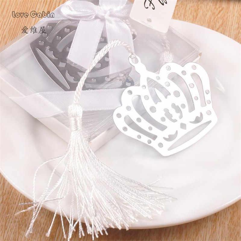 Горячая Корона Цветок Закладка в виде кисточек Свадебные крестины день рождения девочка мальчик подарок на вечеринку в честь рождения ребенка девочка ребенок душ сувениры вечерние подарки