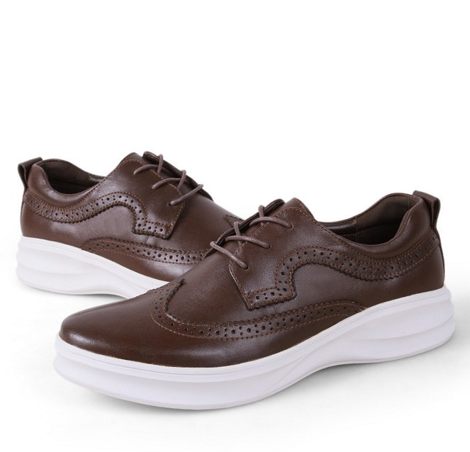 Sole Alta Lace Cyabmoz Brogues Couro Qualidade black Black White Grossa Homens Casuais up Plataforma Sapatos Sola Brown Esculpida Bullock Genuíno brown New De Sole Masculinos Sole ggzwrq5
