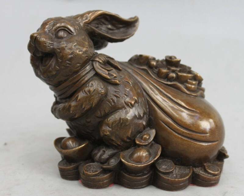 2pc Folk bronze carvings a auspicious lifelike Wealth fish statue