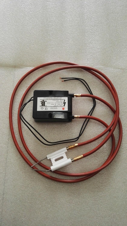 Aguja de encendido de cerámica Accesorios de combustión de la caldera estufa de gas encendedor de fuego pareado doble electrodo de encendido