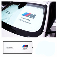 Car Sunshade Sun Shield UV-proof M Power Emblem Motorsport Performance Sunscreen Shade for BMW E30 E60 F30 E46 E39 E90 E36