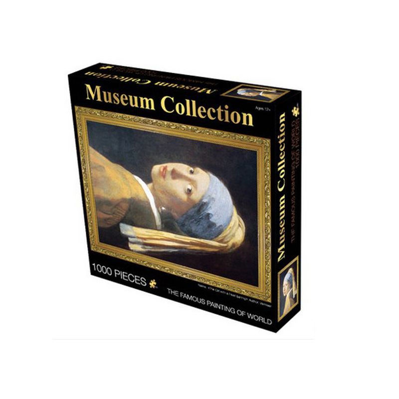 1000pcs Famous Painting Art Puzzles Old Master Jigsaw Great Picture Museum Collection Fllower Toys For Children Home Decor Gift