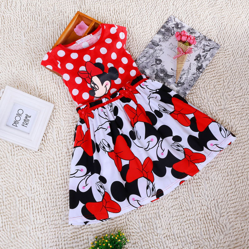 2015-New-High-Quality-Short-Sleeve-Children-Dress-Cartoon-Mouse-Cotton-Kids-Dresses-For-Girls-For-Christmas-New-Year-Clothes-1