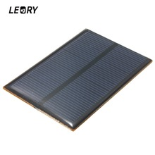 LEORY 5.5V 0.66W Monocrystalline Solar Panel 120mAh Mini Silicon Solar Cells DIY Epoxy Plate Module Battery Phone Charger