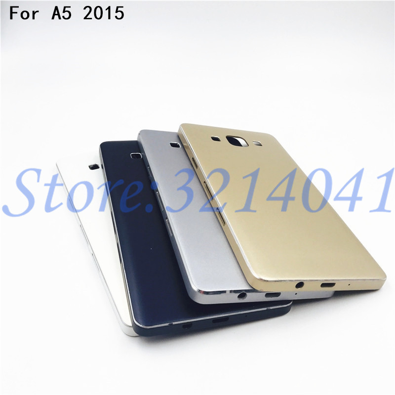 New Metal Back Battery Cover Case Door Housing Cover Frame For Samsung Galaxy A5 2015 A500 A5000 SM-A500F