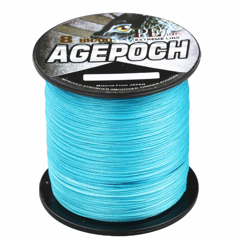 Super Strong 100% PE flettet fiske linje 8 Strands 500m / 550yard 6-300lb Multifiament Fishing Wire for Sea Fishing 9 Farger