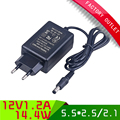 1pcs New design Power adapter 12V 1.2A AC 100-240V power supply Adapter EU Plug