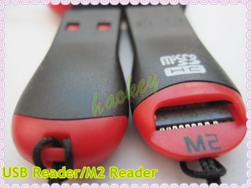 free shipping +20pcs/lot USB 2.0 micro sd card reader memory card reader m2 reader