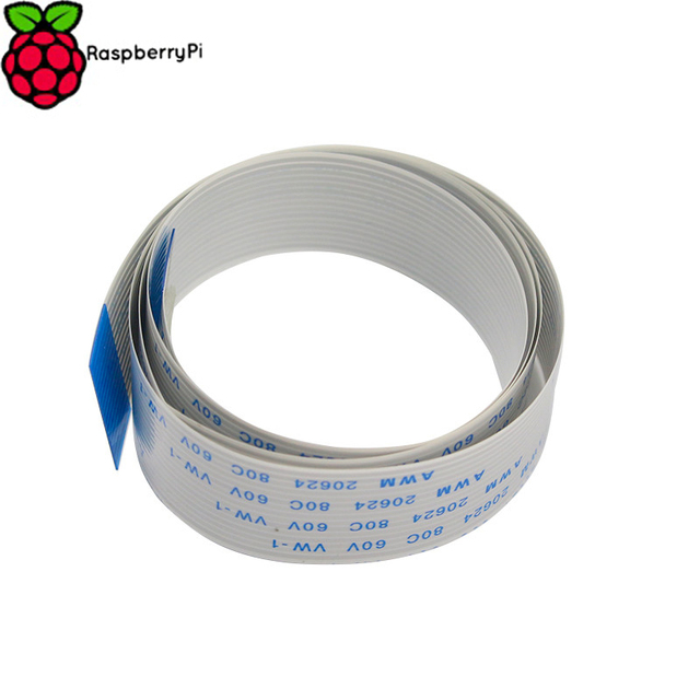 Raspberry Pi 3 Camera Cable 1M 50CM 30CM 15CM Ribbon FFC 15pin 0.5mm Pitch Flat Wire Cable for Raspberry Pi 2 Camera Line