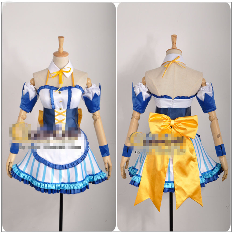 Japanese Amine THE IDOLM@STER Cinderella Girls Honda Mio Cosplay Costume Maid Clothing Custom Made Woman Dress