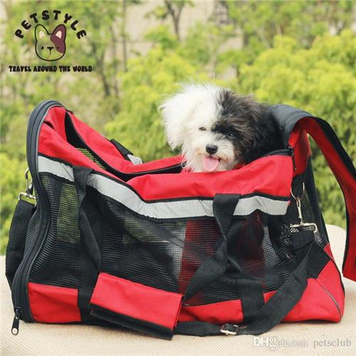Breathable Dogs Travel Bags Oxford Mesh Pets Outdoor Carrier Portable Bag Carriage Travelling Supplies Accessories