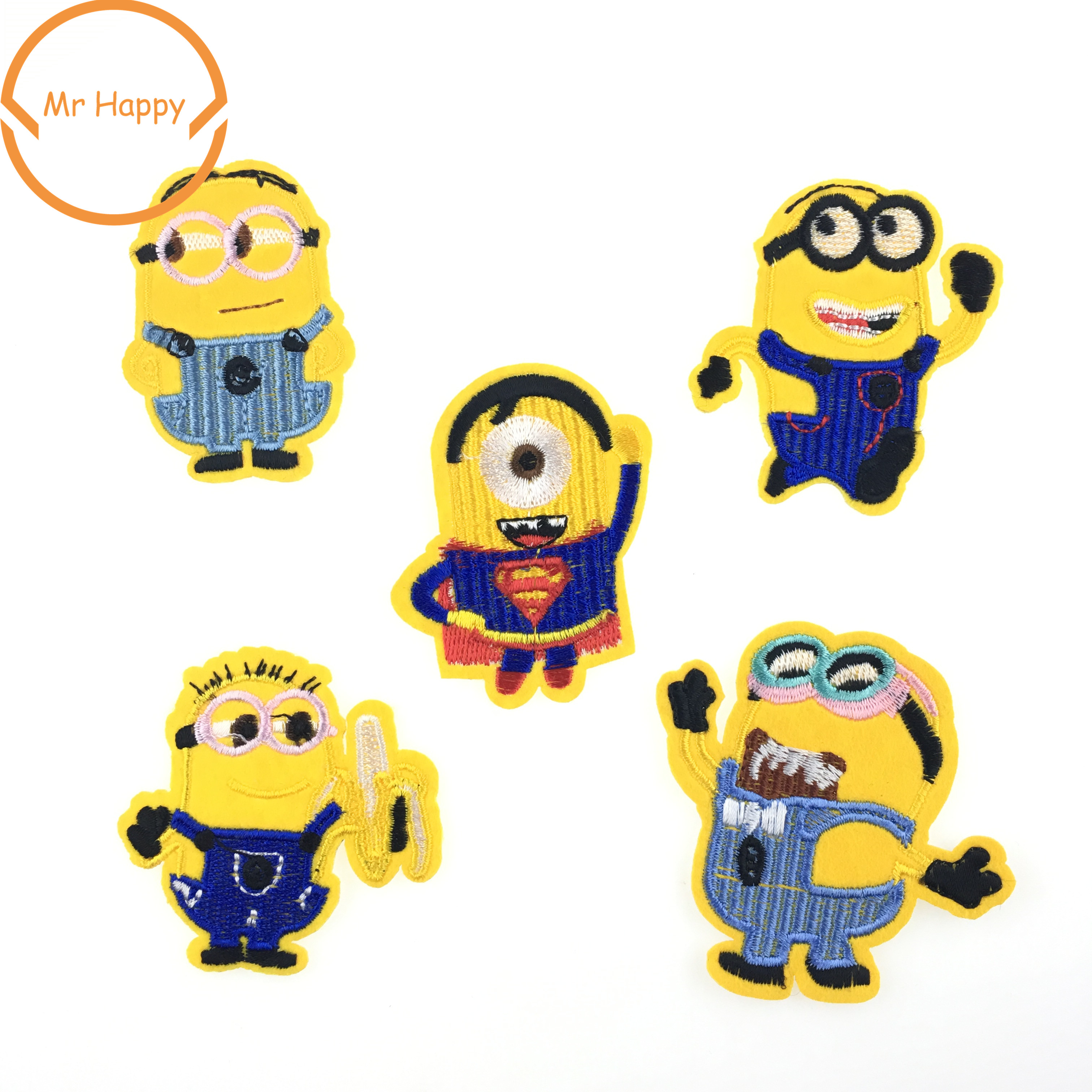 Sew On Despicable Me Cute Minions Cartoon Embroidered Patch Iron On